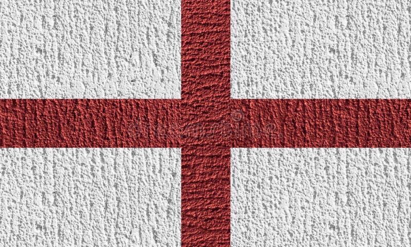 英国旗子构思设计由颜色绘画的在混凝土 库存照片