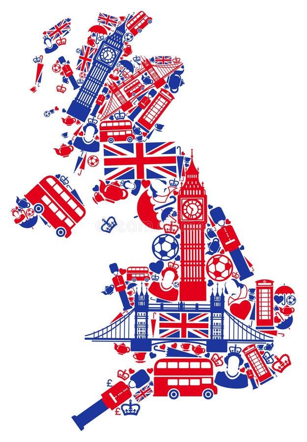 英国映射 皇族释放例证