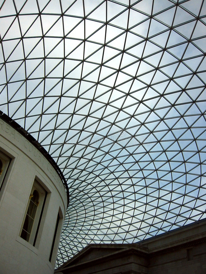 英国最高限额玻璃博物馆 免版税库存照片