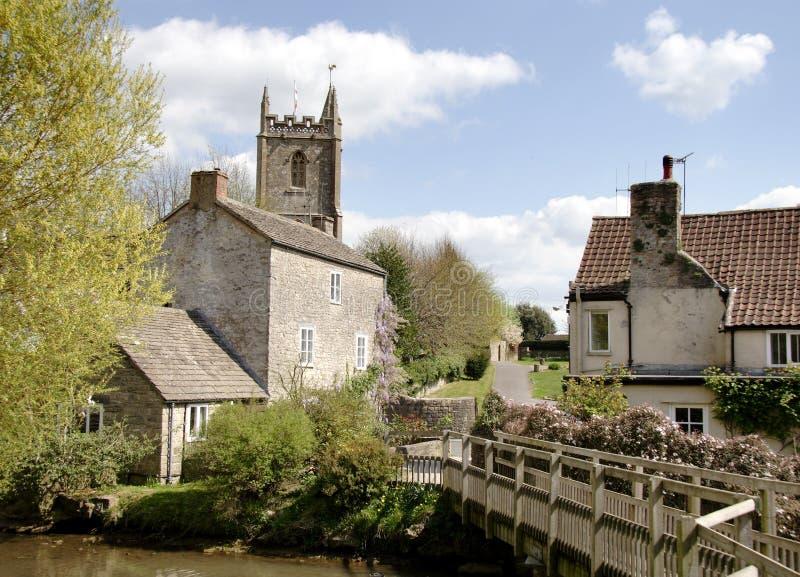 英国村庄 免版税库存照片