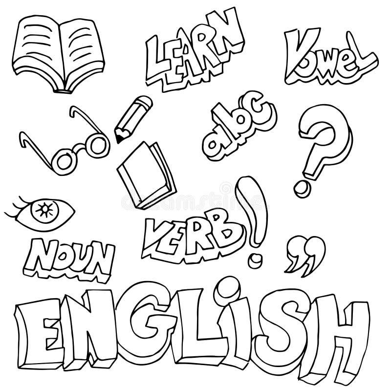 英国标志和学习项目 向量例证