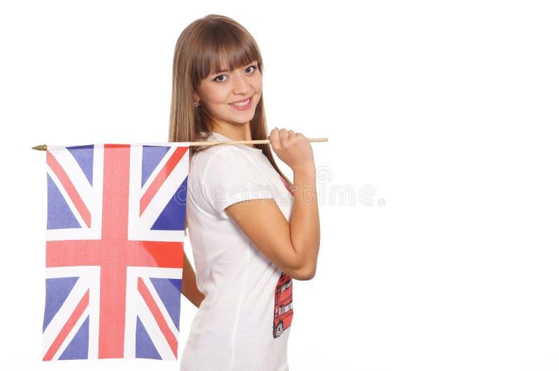 英国标志女孩 库存照片