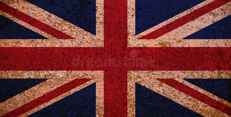 英国标志极大生锈 库存照片