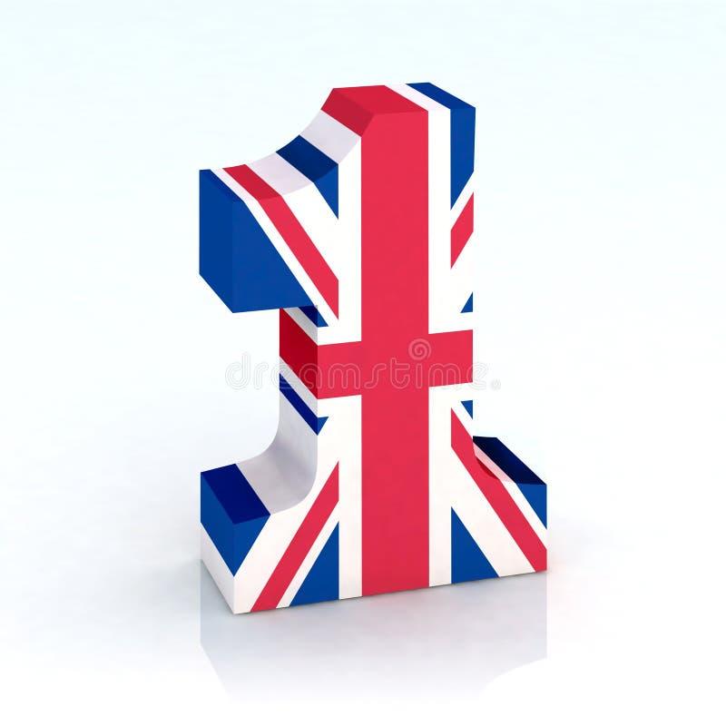 英国标志第一 向量例证