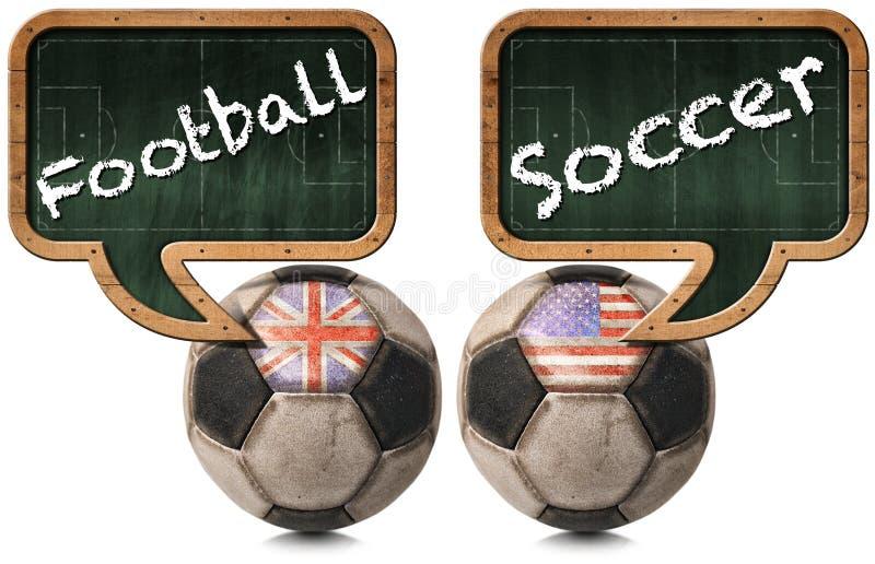英国橄榄球和美国足球 皇族释放例证