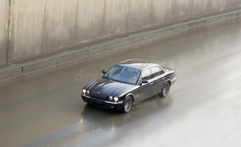 英国汽车高捷豹汽车豪华行动速度 免版税库存照片