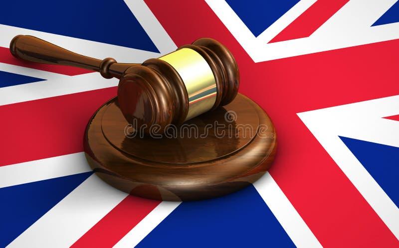 英国法律和英国法制系统概念 向量例证