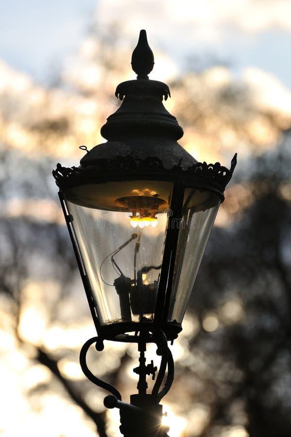英国煤气灯伦敦街道英国威斯敏斯特 库存图片