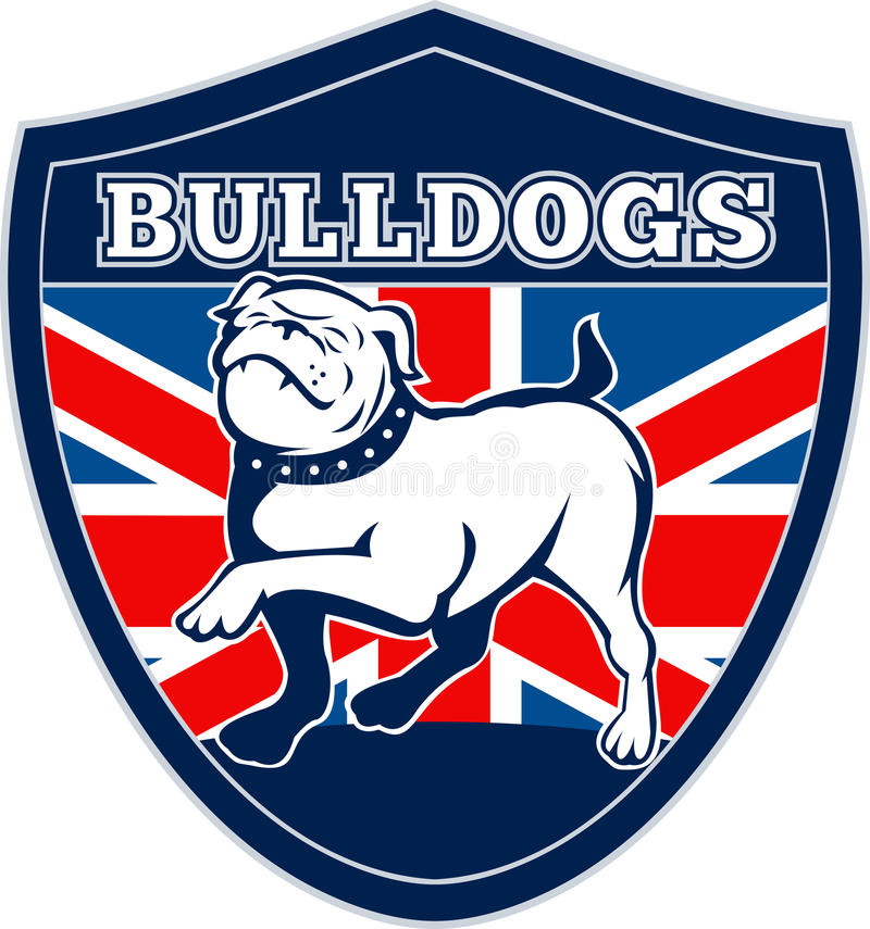 英国牛头犬英语标志 皇族释放例证