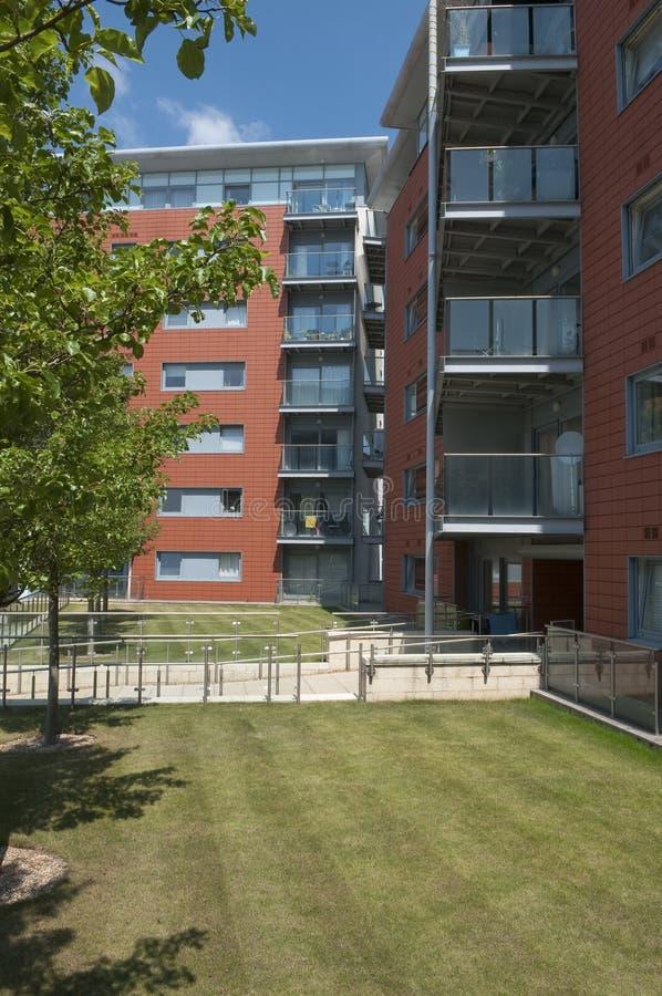 英国现代公寓单元的 库存图片