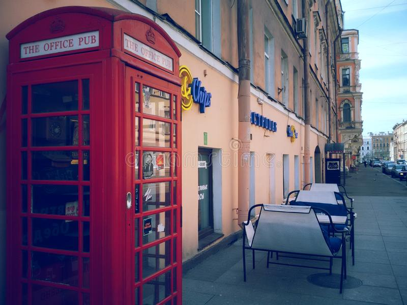 英国电话箱子 免版税图库摄影