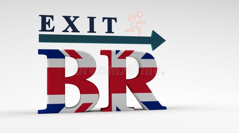 英国的出口从欧盟的 向量例证