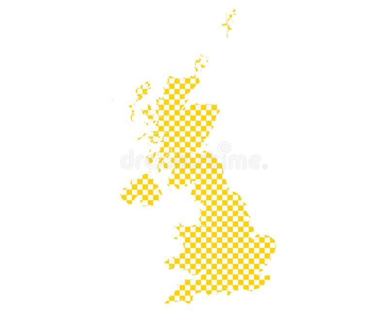 英国的地图棋盘样式的 皇族释放例证