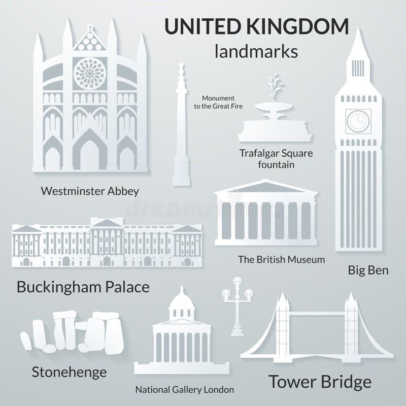 英国的地标 库存例证