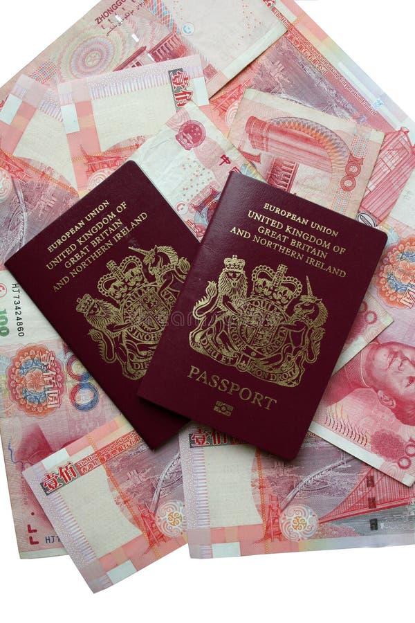 英国的护照 免版税库存图片