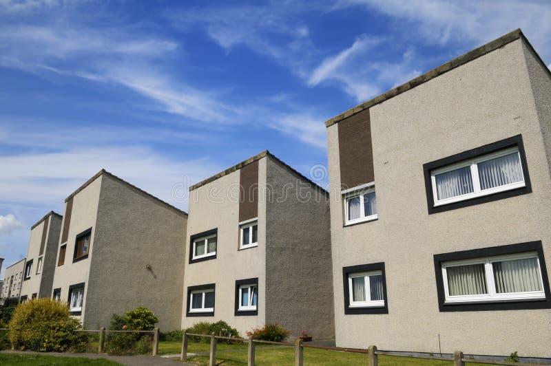 英国的理事会公寓 免版税库存图片