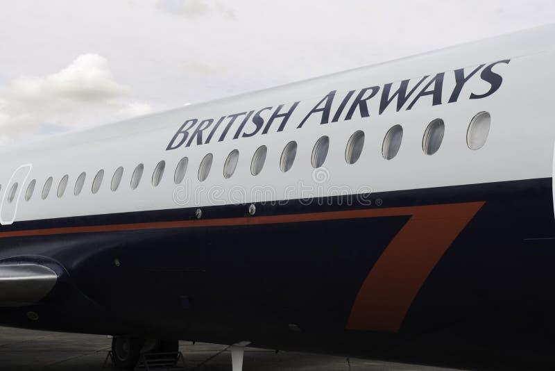 英国的空中航线 库存照片