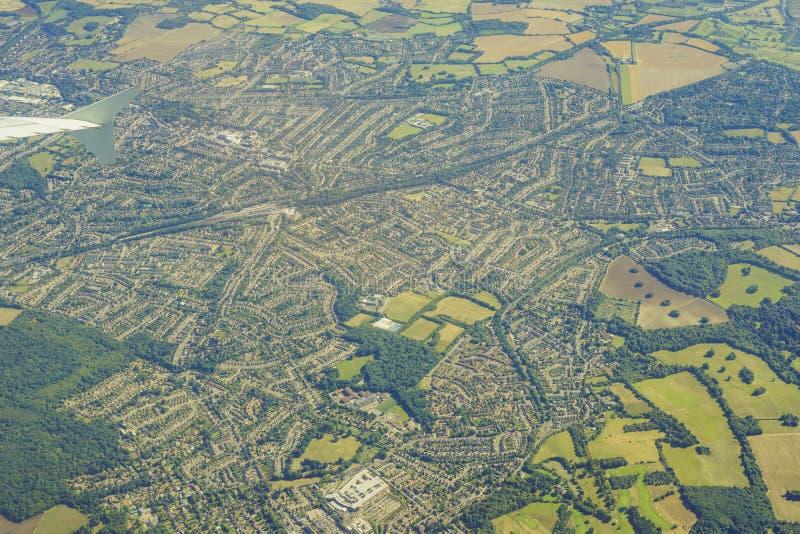 英国的鸟瞰图 库存照片