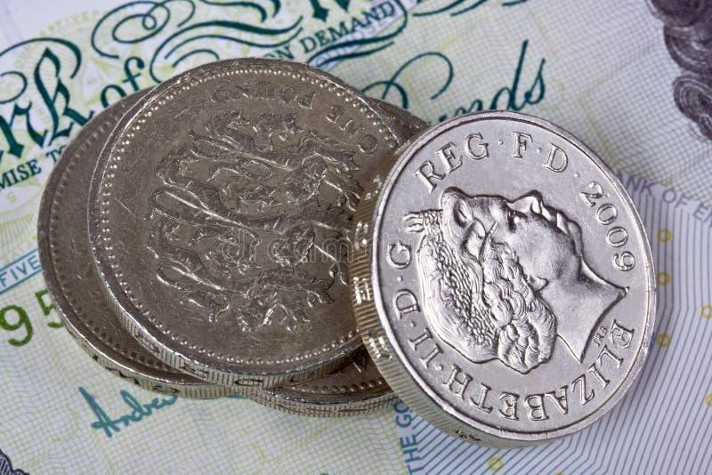 英国硬币镑 免版税库存照片