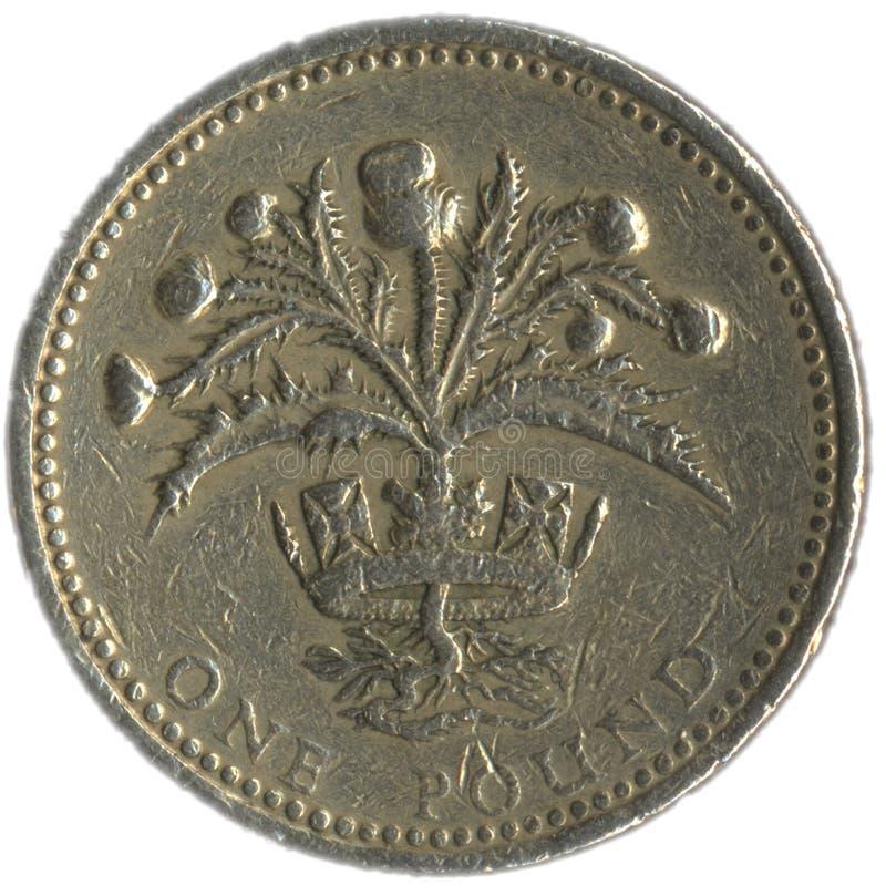英国硬币镑 图库摄影