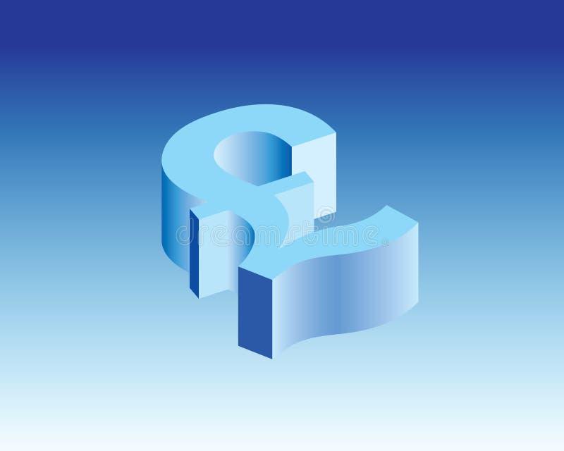 英国磅象& 3d标志 免版税图库摄影