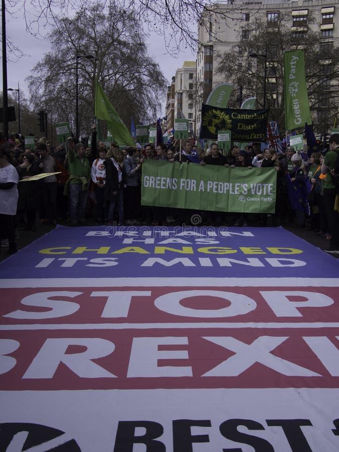 英国社会运动家的最好抗议Brexit 库存图片