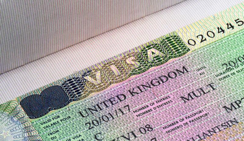 英国签证关闭 库存照片