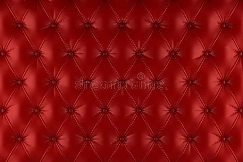 英国红色真皮室内装饰品,切斯特菲尔德样式背景 向量例证