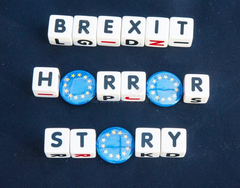 英国脱欧是一个恐怖故事 免版税库存图片