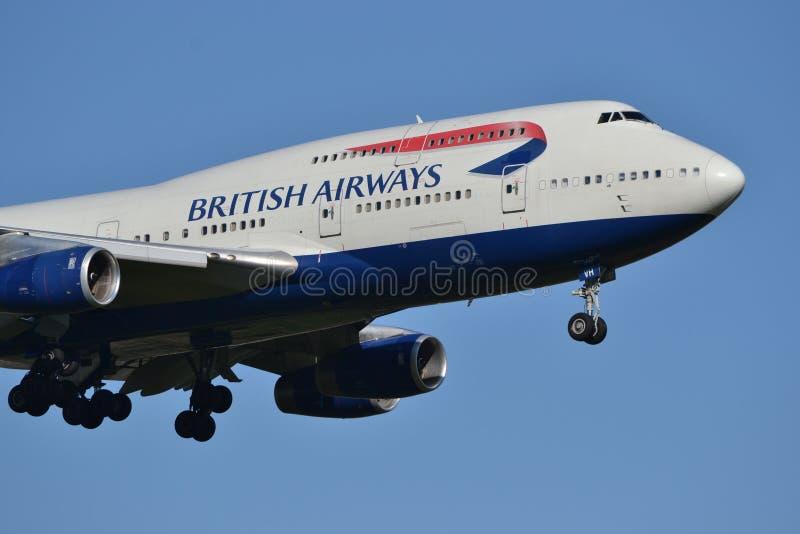 英国航空波音747 免版税库存照片