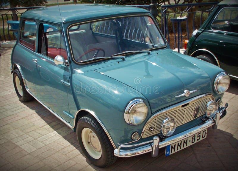 英国莫妮斯微型较小汽车 库存图片