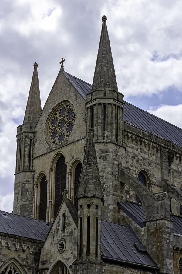 英国西萨塞克斯奇切斯特圣三一教堂 免版税图库摄影