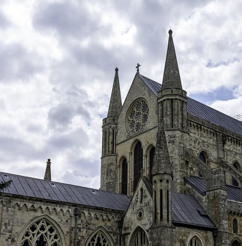 英国西萨塞克斯奇切斯特圣三一教堂 免版税库存图片