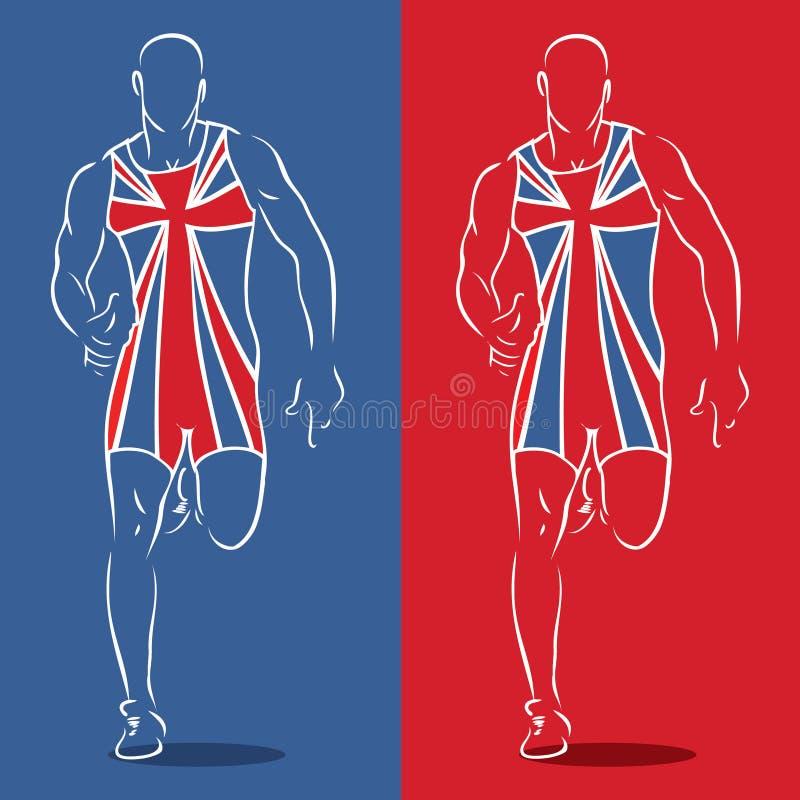 英国赛跑者 图库摄影