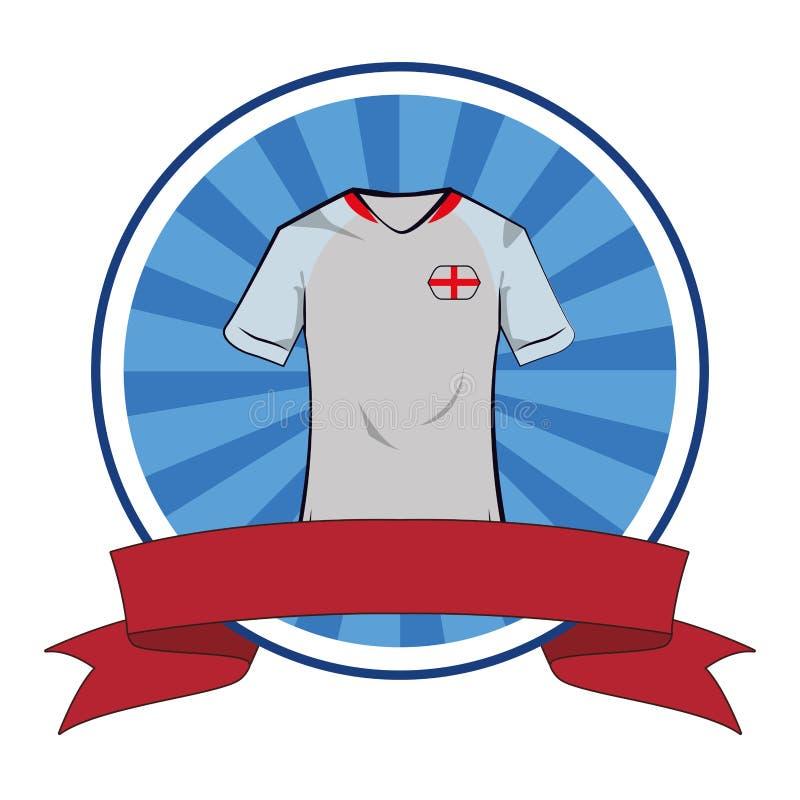 英国足球T恤杉足球T恤杉 库存例证