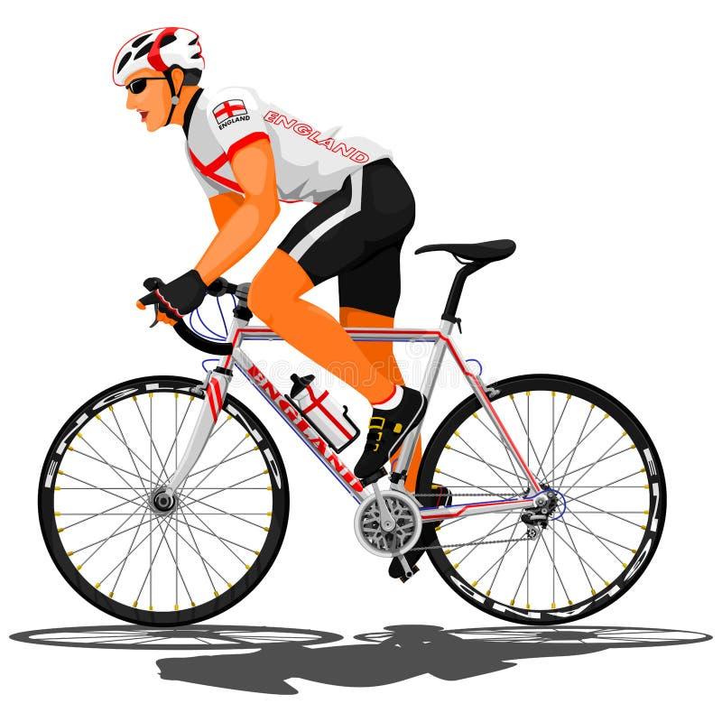 英国路骑自行车者 库存例证
