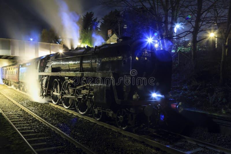 英国铁路标准类7奥利弗・克伦威尔 库存图片