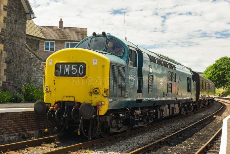 英国铁路类37机车 库存照片