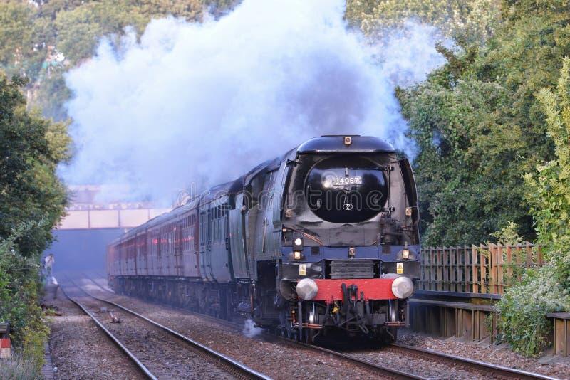 英国铁路severn蒸汽培训谷 免版税图库摄影