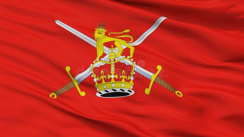 英国陆军旗子特写镜头视图 向量例证