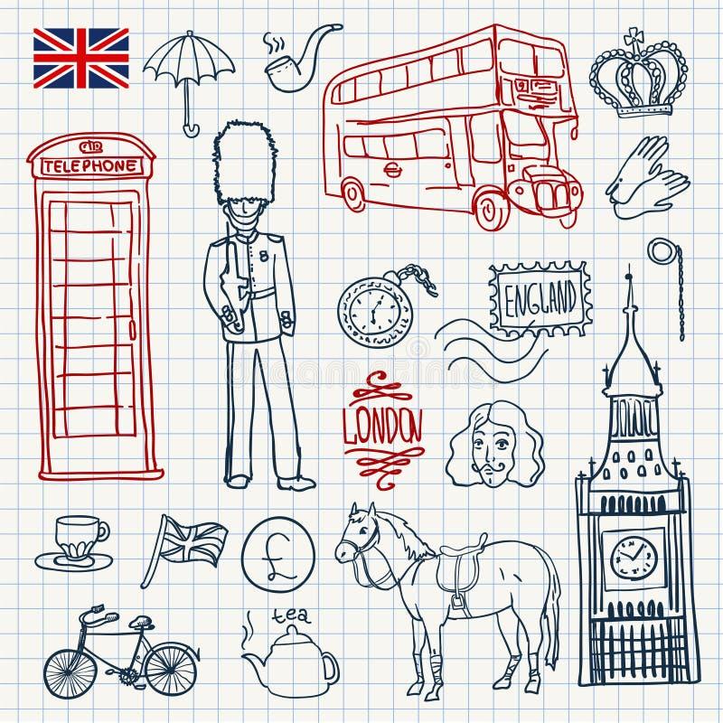 英国集合 向量例证