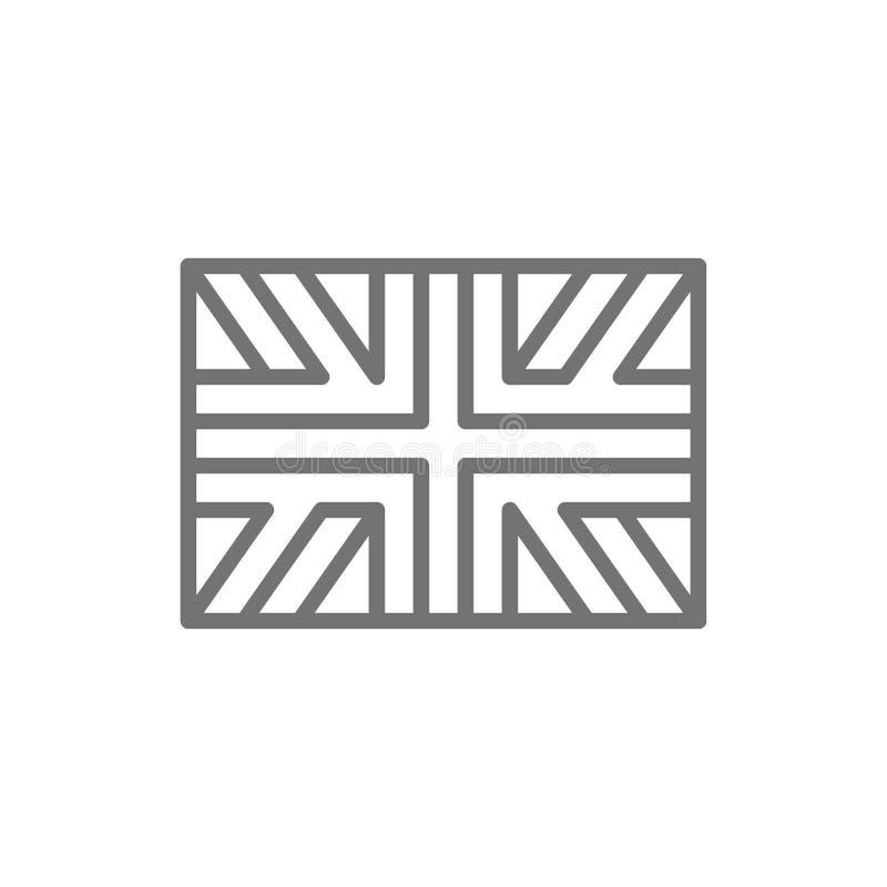 英国,英国的旗子线象 皇族释放例证
