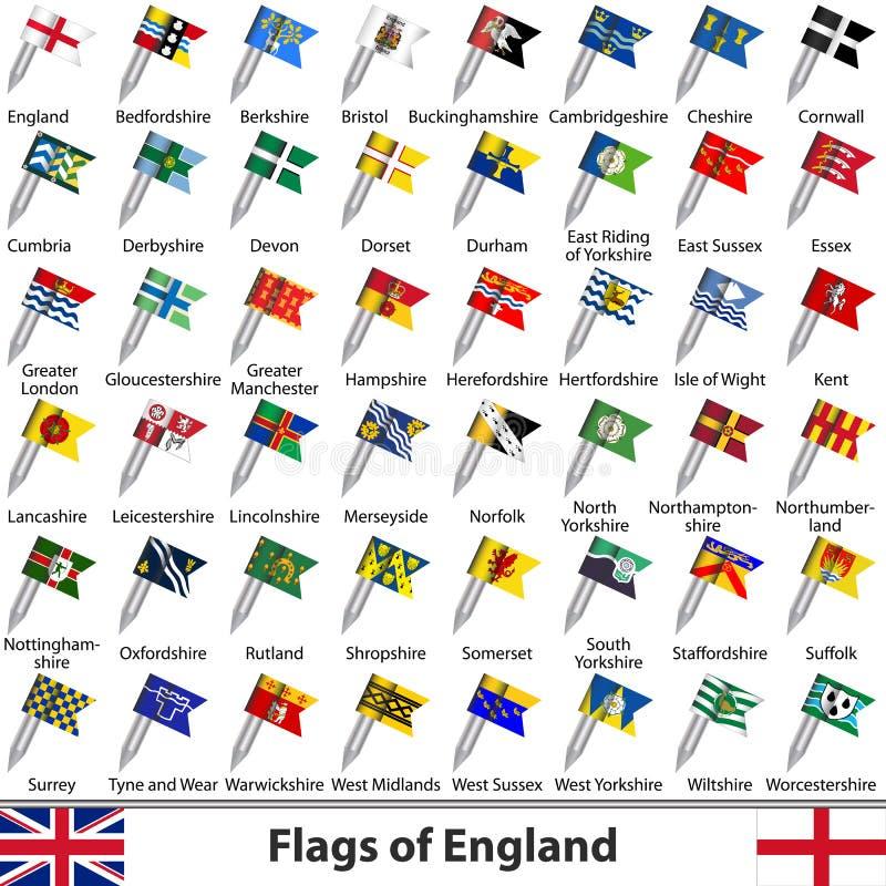 英国,英国的旗子 向量例证