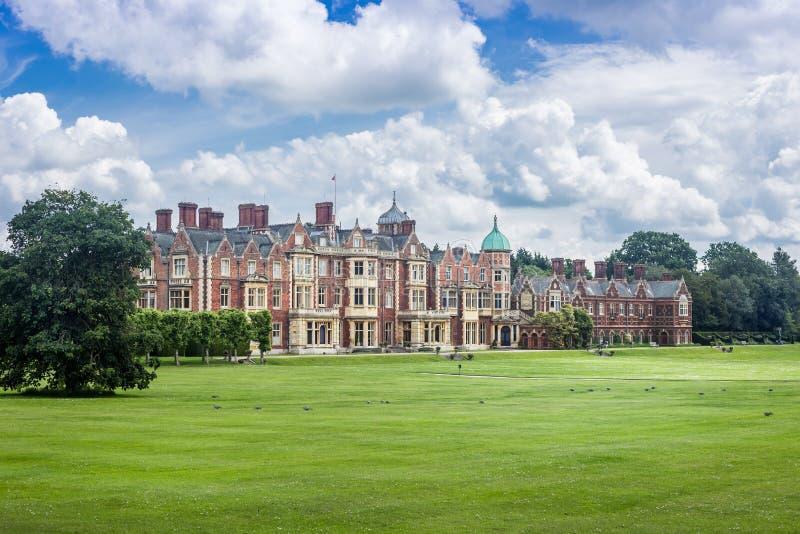 英国,诺福克, Sandringham, 2016年, 6月, 15日:女王/王后` s住所, 免版税库存照片