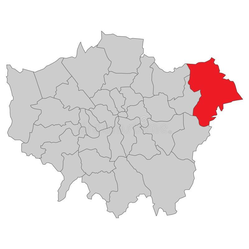 英国-伦敦地图-高详细 向量例证