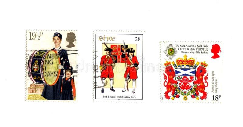 英国3种的印花税 库存图片