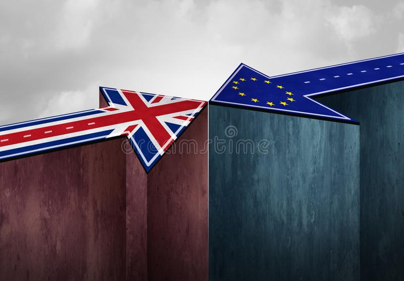 英国Brexit协议挑战 库存例证