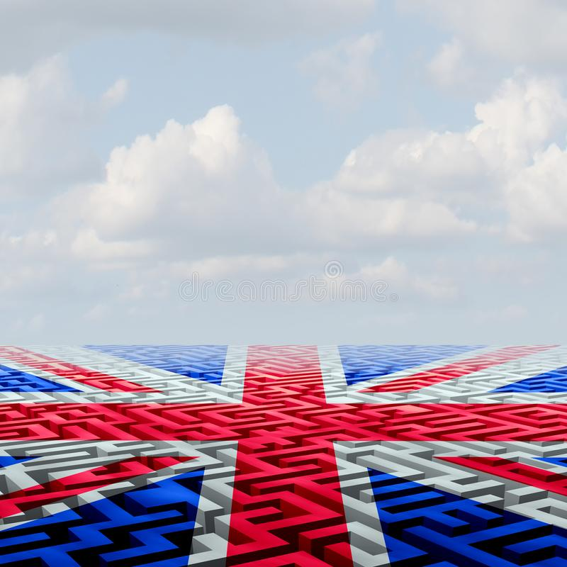 英国Brexit挑战 库存例证