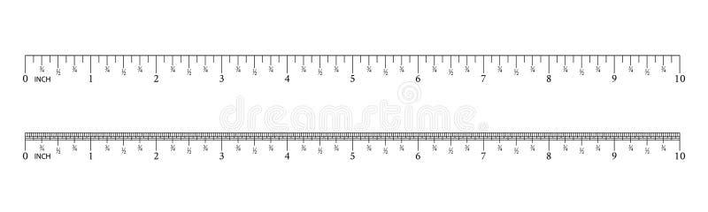 英寸和公尺统治者 r 统治者毕业栅格 大小显示单位 厘米和英寸刻度尺 皇族释放例证