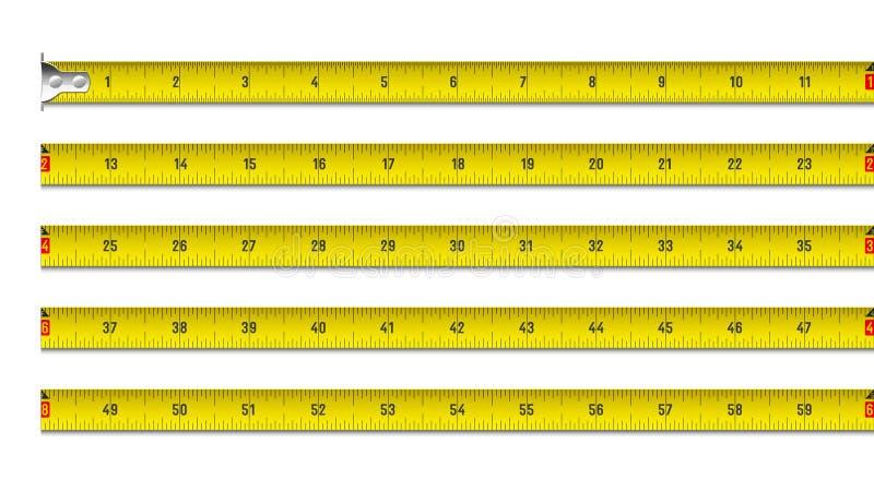 英寸评定磁带 向量例证